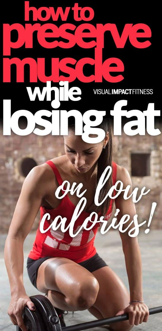 Lowering your calories enough to create a deficit ALWAYS results in weight loss, but not always fat loss. That weight can come from either fat or from muscle. How do you lose fat without losing muscle? By performing resistance training. With diet alone, you are rolling the dice and HOPING most of that weight comes from fat, not muscle. Resistance training, done properly, sends signals to the body to hold onto muscle tissue. Instead of losing a combo of muscle and fat… The weight loss comes mainly from your stored body fat.