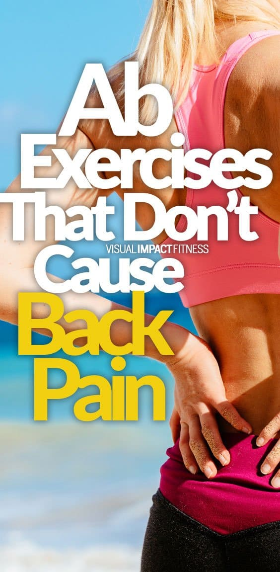 Ab Exercises That Don't Cause Back Pain