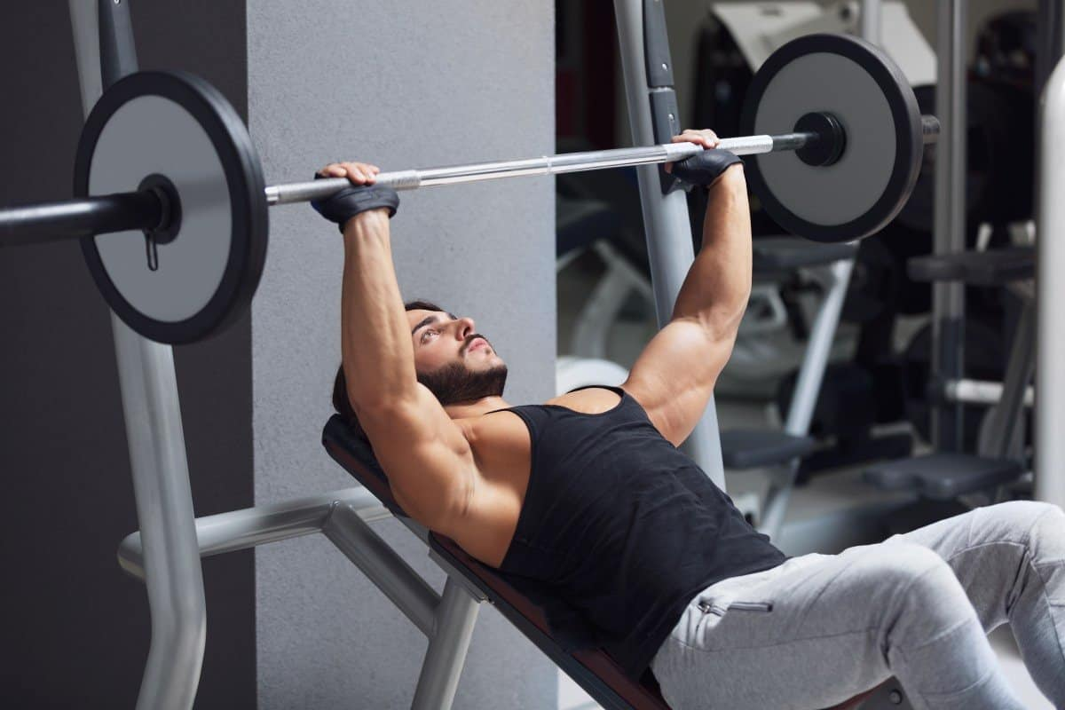 incline barbell press to build upper chest
