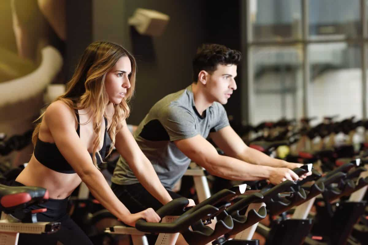 high intensity interval training on an exercise bike