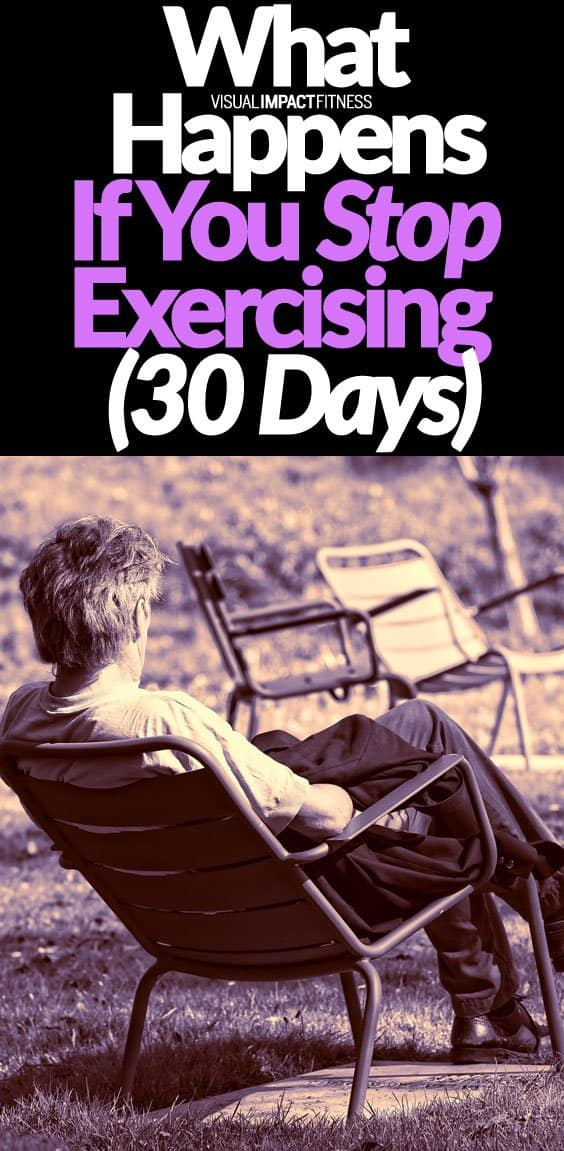 Have you ever wondered how quickly you would lose strength and endurance if you stopped exercising? I've trained for close to 30 years without an extended break, so I can't really comment from experience. I found a video which examines how your body changes when you stop exercising for 30 days. Here's one of the more interesting points. If you stop training for 2 weeks, your VO2 Max declines considerably. One of the reasons you want to maintain a high VO2 Max is that aerobic fitness helps your body become more efficient at burning stored fat.