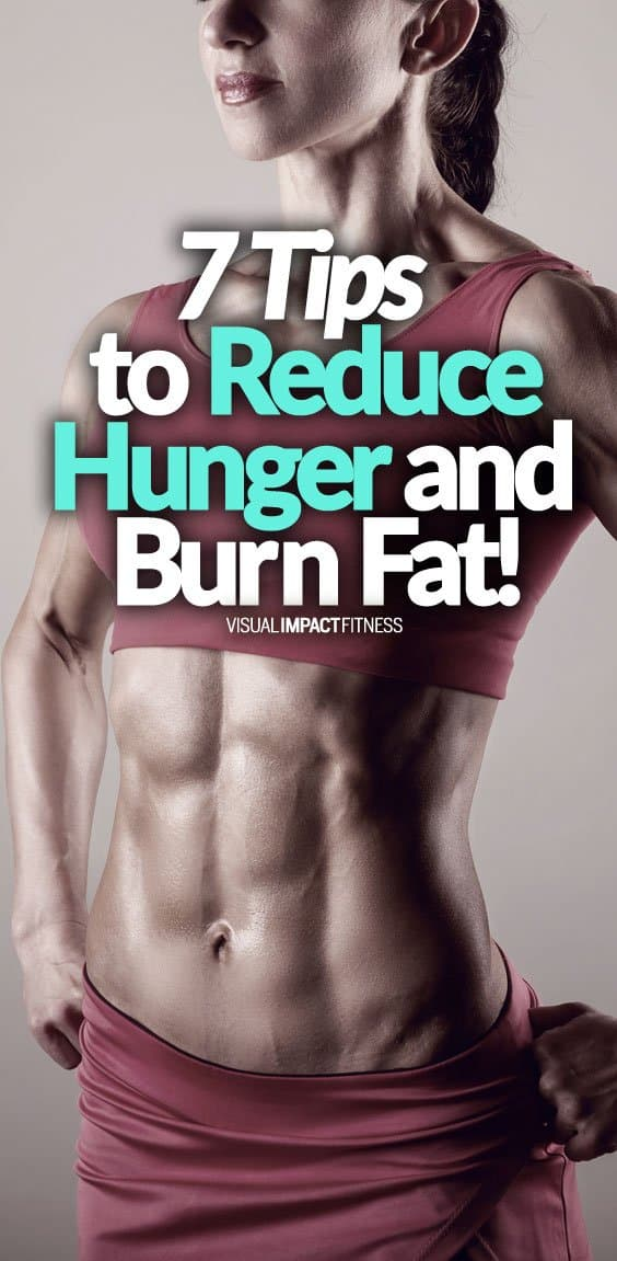 """Hunger is one of those things you have to learn to deal with if you want to get lean. Unless you are young or have a high metabolism you can expect to get hungry from time to time when following a solid fat loss diet plan. Managing and minimizing these hunger signals is what it takes to stick to a diet. Here's a video discussing 7 tips to reduce hunger. The most important point made in the video? The """"hunger hormone"""" Ghrelin comes in waves. When it peaks you will be super hungry, but what happens is that the peak doesn't stay high. Don't eat as soon as you feel hungry. If you can get through a short period of discomfort, ghrelin will dip down and you will no longer be hungry."""