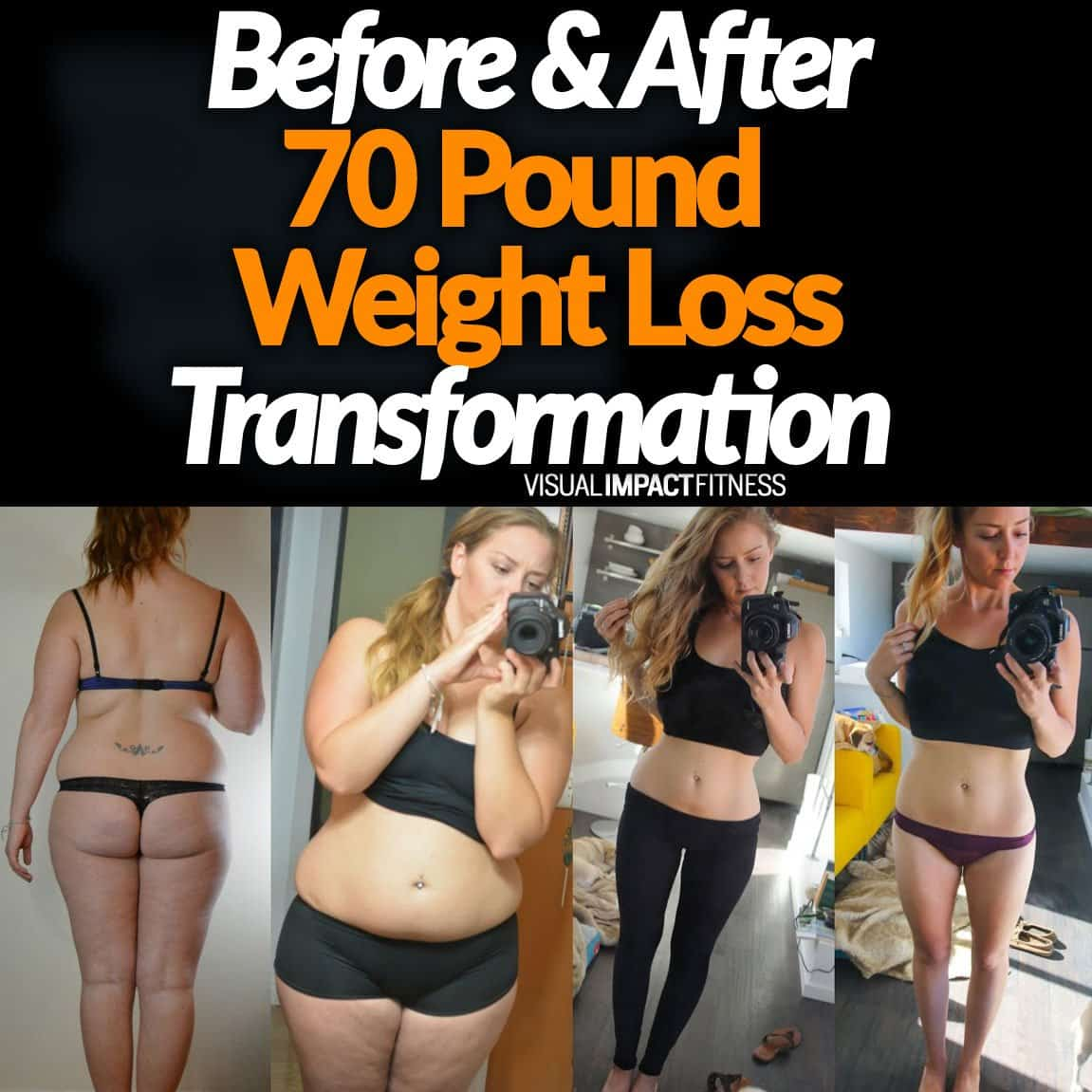 Before & After 70 Pound Weight Loss Transformation