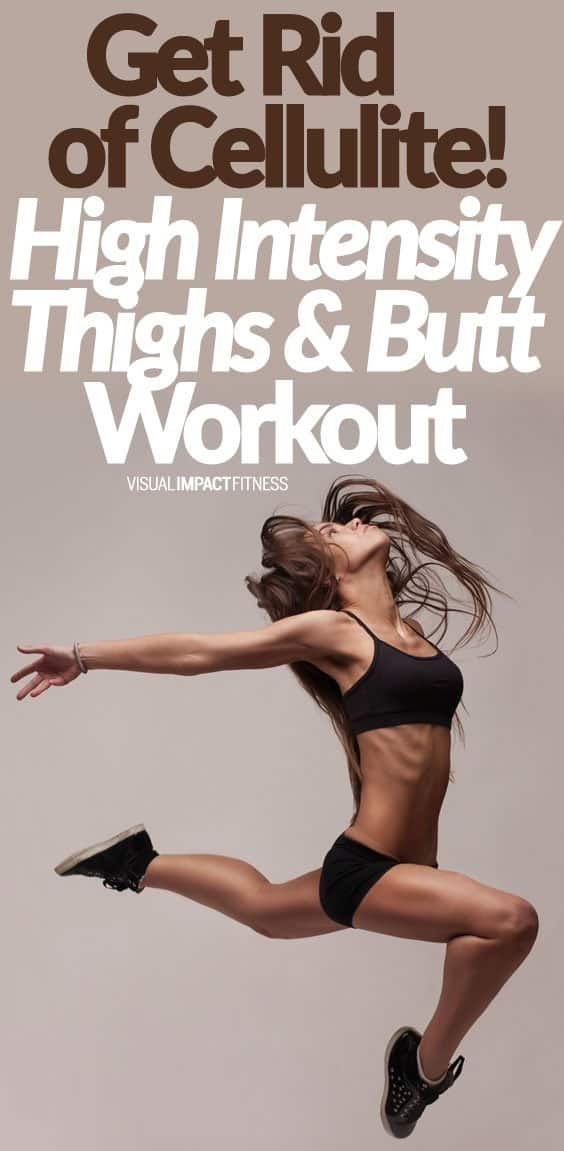 We used to think it was impossible to spot reduce a body part. Recent research has shown that we can possibly hit stubborn fat by training in a way that improves blood flow and circulation to an area. So if you have stubborn fat and cellulite on your thighs and butt, do a calorie burning workout that hits these areas hard. Here's a bodyweight cardio workout that increases blood flow to the thighs and butt. This workout will work well on its own, but I have a way to make it more effective. ...