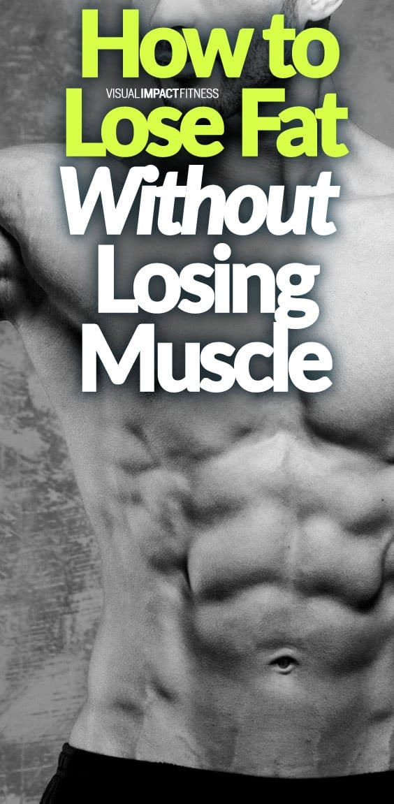 When you are dieting and training to lose fat, you don't want to lose muscle in addition to that fat. Building muscle is a much slower procedure than losing fat. When losing fat the goal is to keep as much of that muscle as possible. Here's a video explaining 4 basic suggestions to lose fat without losing muscle. His very first idea is one of the most crucial ones: Keep your weight training approach the same as it was when you were attempting to gain muscle.