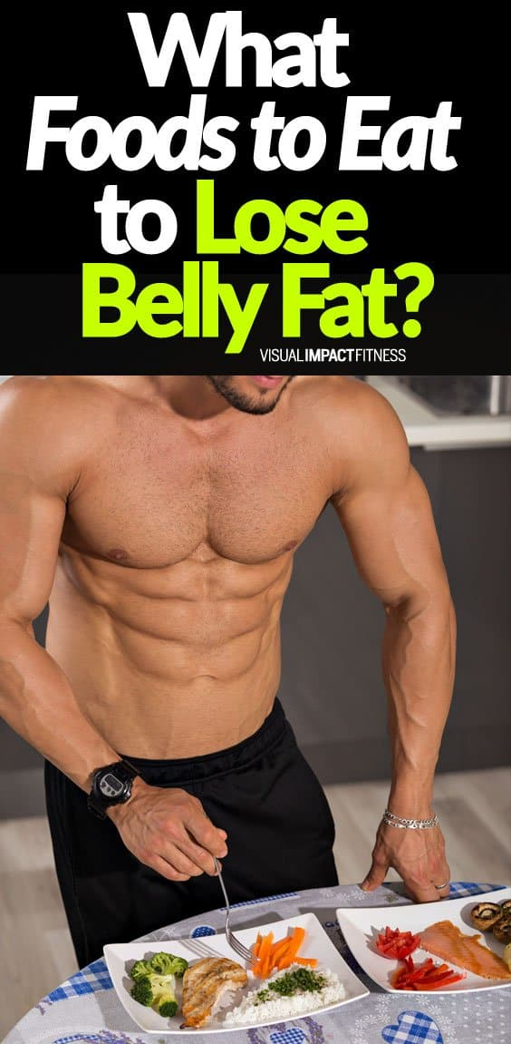 There really isn't a way to eat to specifically lose belly fat. What happens is that you lose fat all over your body and eventually you will lose that fat covering your abs. What are the best foods for losing fat? Here's a video explaining how to setup your calories and macros to lose fat and get ultra lean. The meal plan he talks about in the video can work.