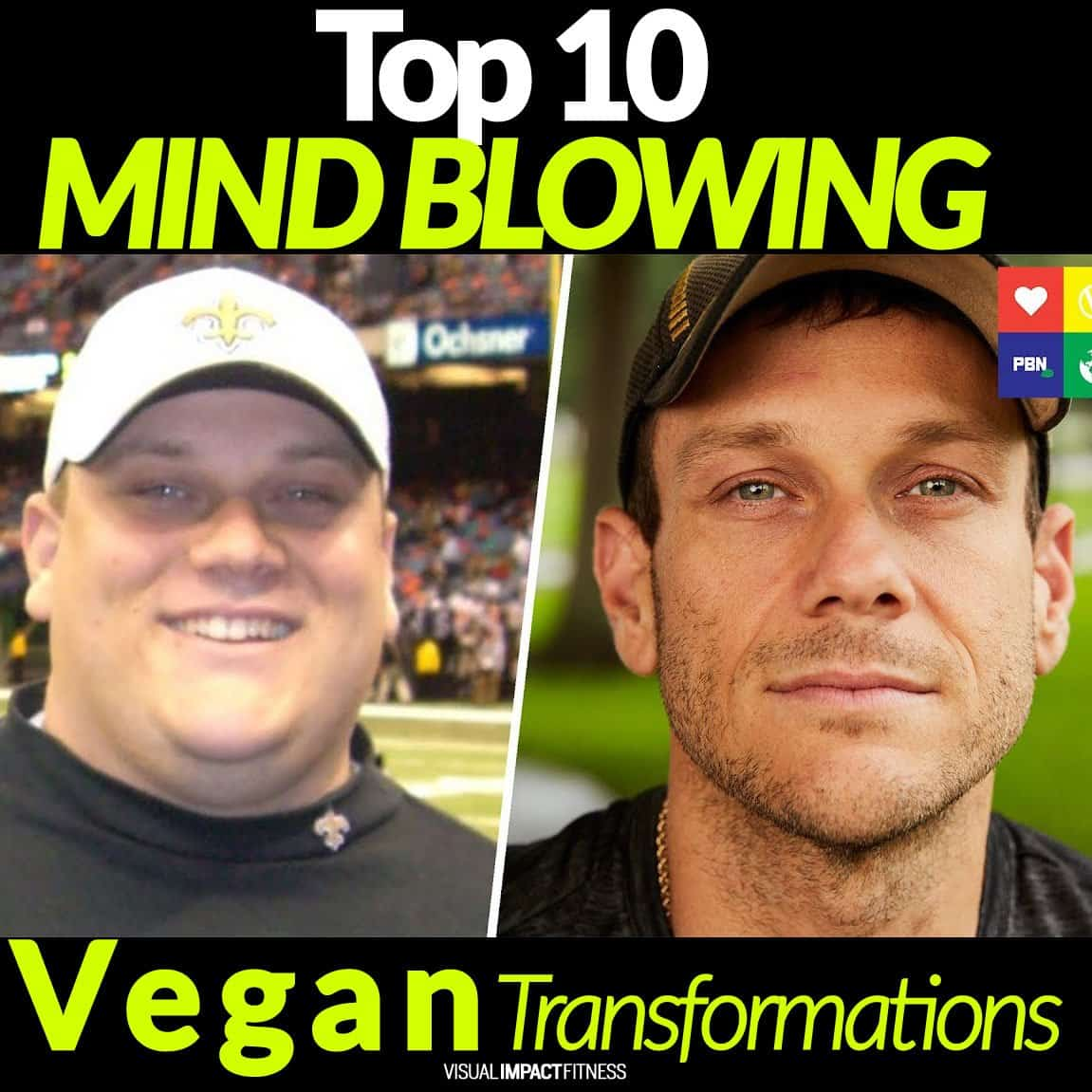 Top 10 MIND-BLOWING Vegan Transformations