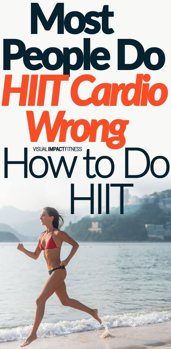 Most people perform HIIT cardio wrong. Even improper HIIT will burn calories and body fat, but results will happen at a faster pace when done correctly. So how should you set up your HIIT workout? Here's a video explaining what you are trying to accomplish when doing high intensity interval training. His biggest tip is thinking of HIIT as a similar intensity to lifting weights. What is cool is that this creates a special fat burning window of opportunity. Intense exercise like HIIT releases free fatty acids into the bloodstream. If you follow these intense efforts with slow cardio, you can easily burn a lot of this fat.