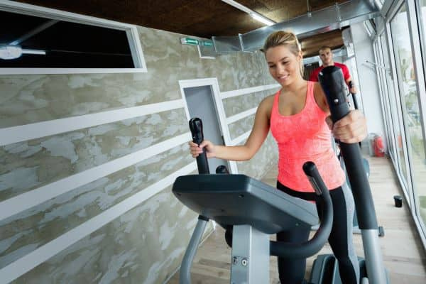 Woman on an Elliptical Machine