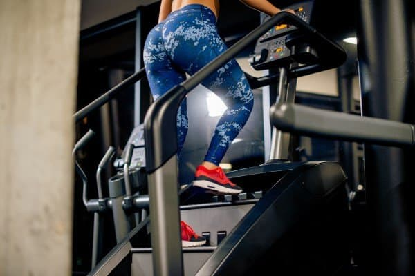 Woman Exercising on a Stepmill