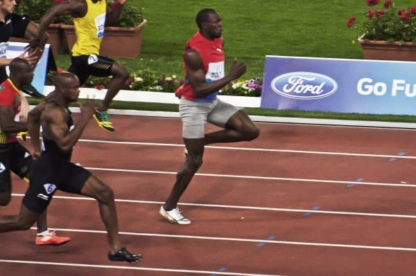 usain bolt lactate threshold