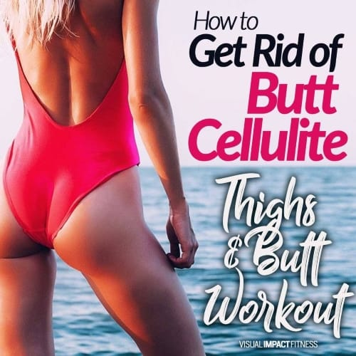 Get Rid of Butt Cellulite | High Intensity Thighs & Butt Workout