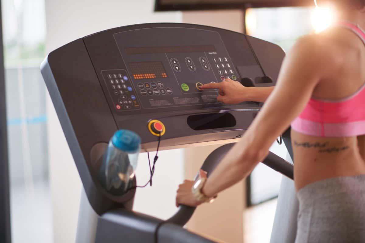 setting up treadmill