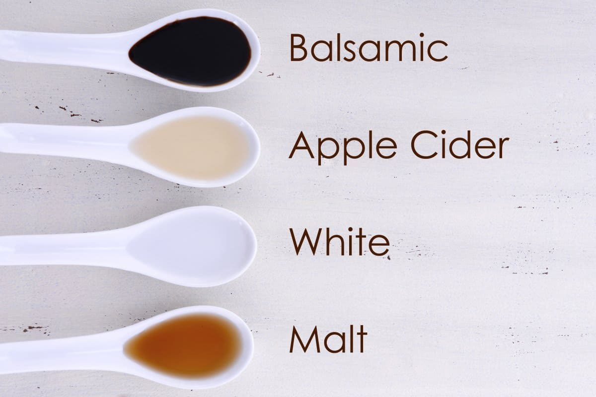 balsamic white apple cider and malt vinegar