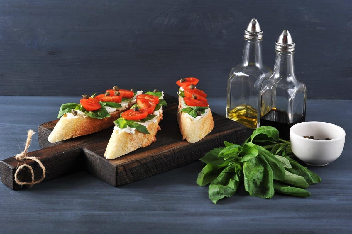 bruschetta and balsamic vinegar