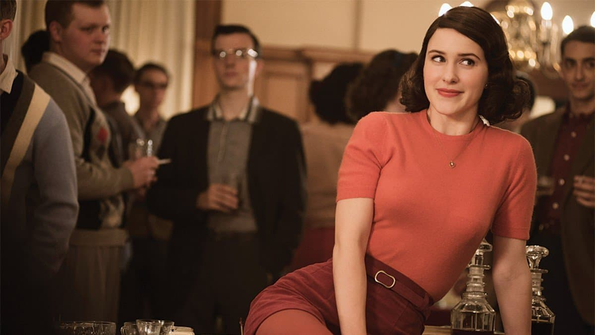 marvelous mrs maisel measuring herself