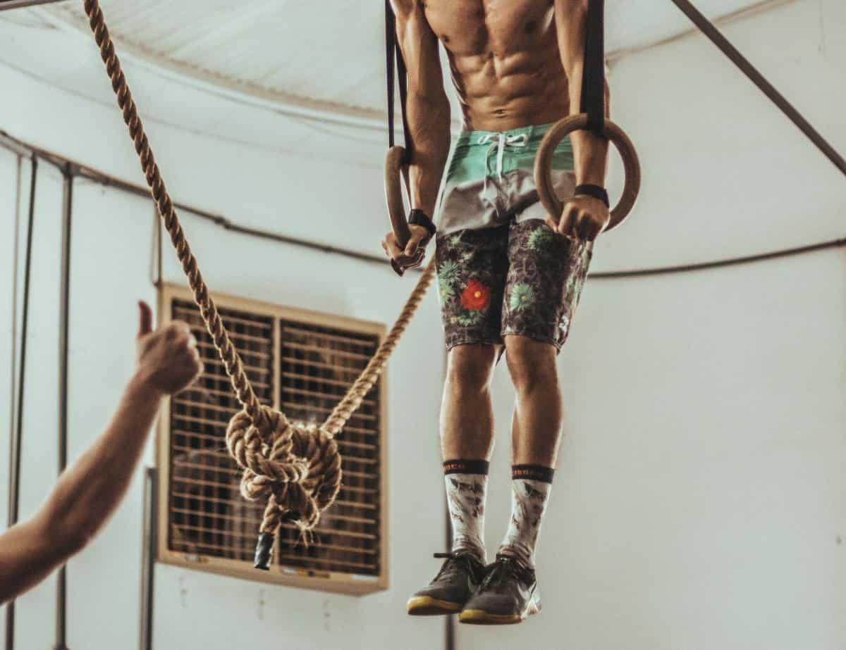 ripped circus performer