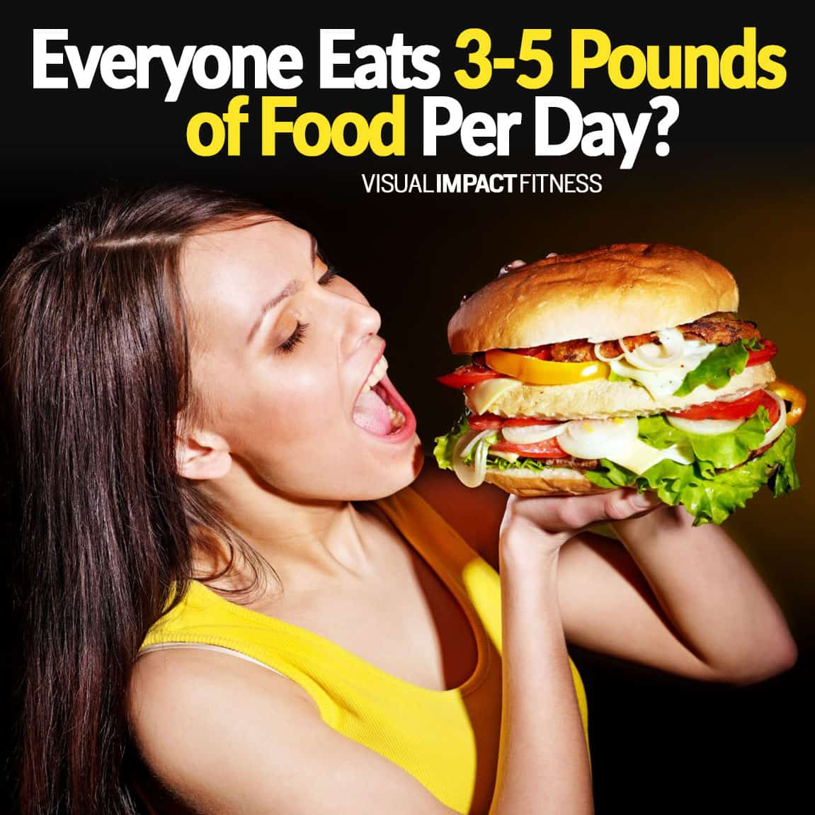 Everyone Eats 3-5 Pounds of Food Per Day?