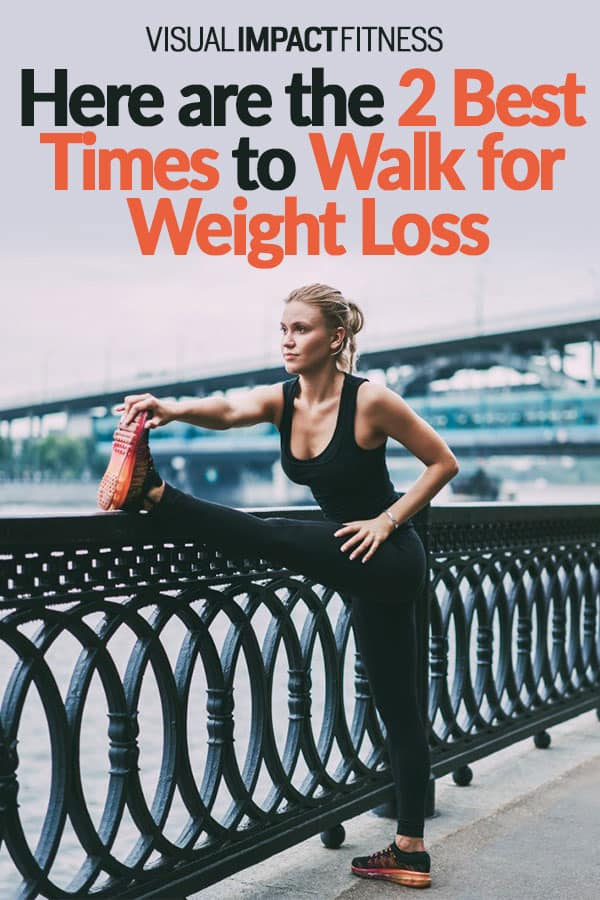 Here are the 2 Best Times to Walk for Weight Loss