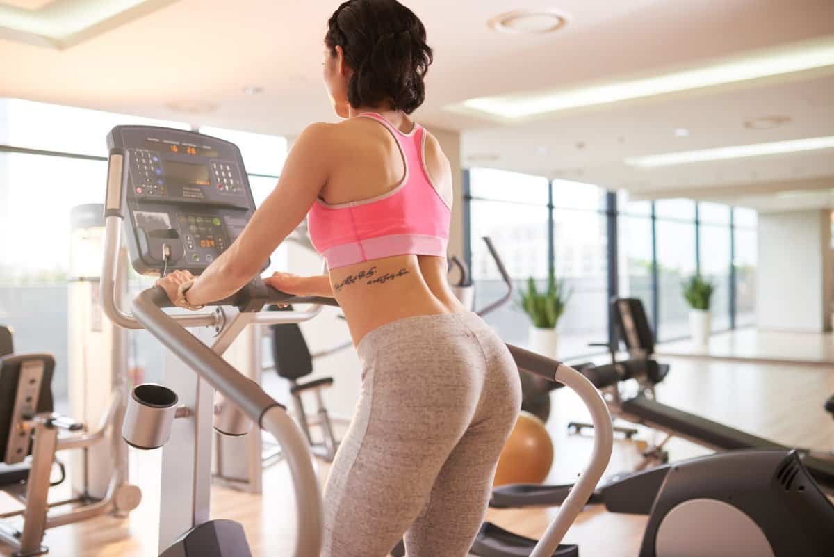 Woman having cardio training in the gym