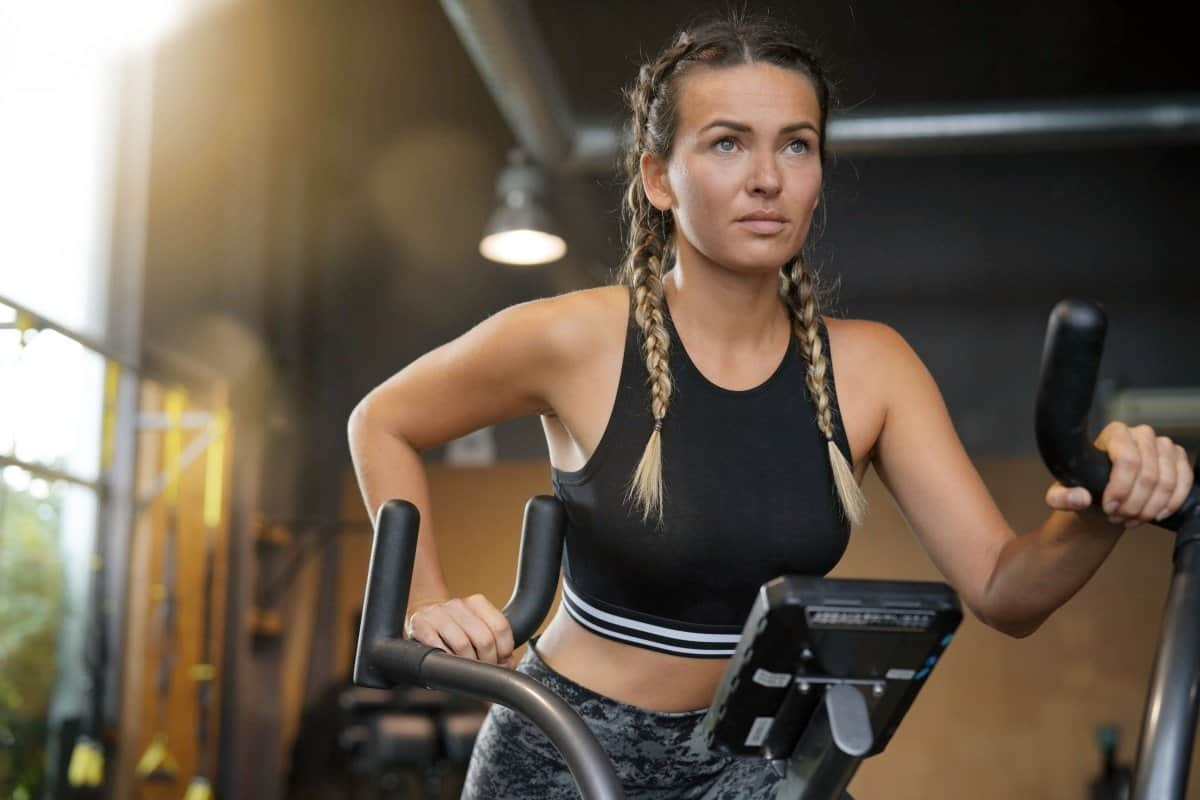 cardio machine training to burn fat