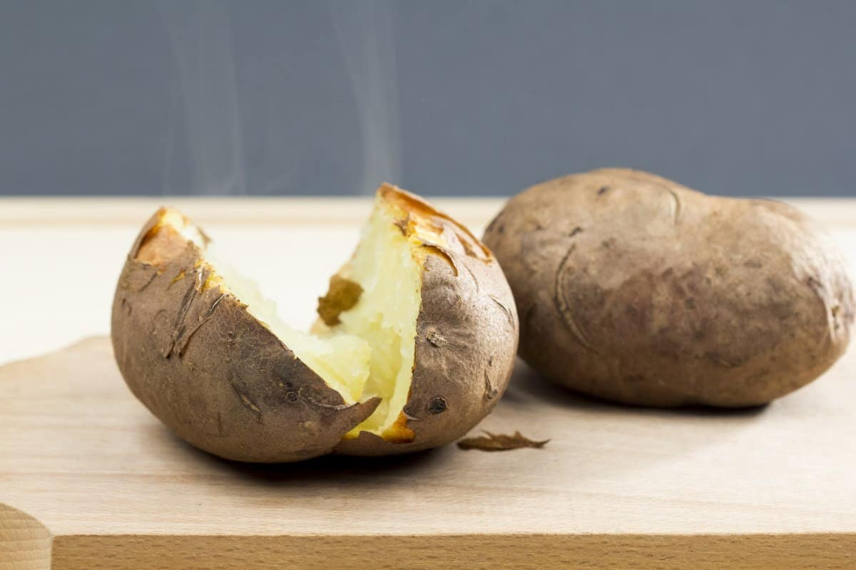 plain baked potato steam