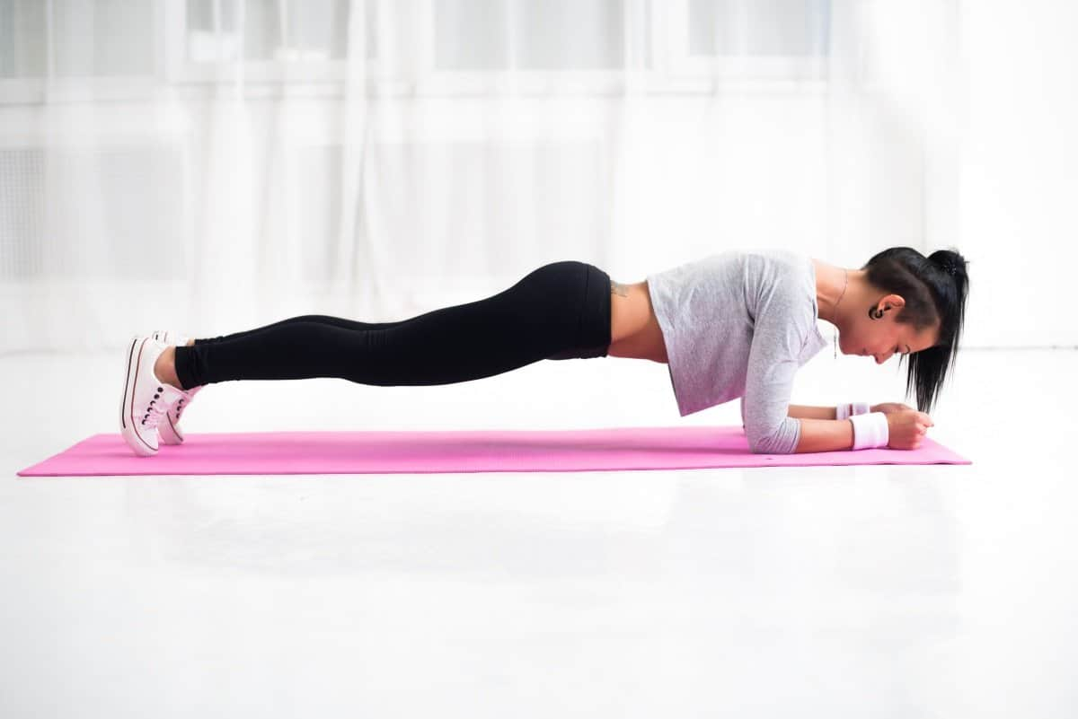 planks for nice abs and butt